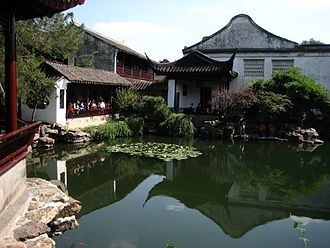 Chinese garden - The Master of the Nets Garden in Suzhou (1141) was a model for later scholar's gardens.