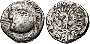 Kannauj - Coin of the Maukharis of Kanauj. King Isanavarman. Circa 535-553 CE.