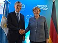 Mauricio Macri & Merkel Davos 2018 02.jpg