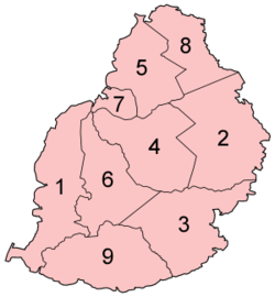 Districts of Mauritius