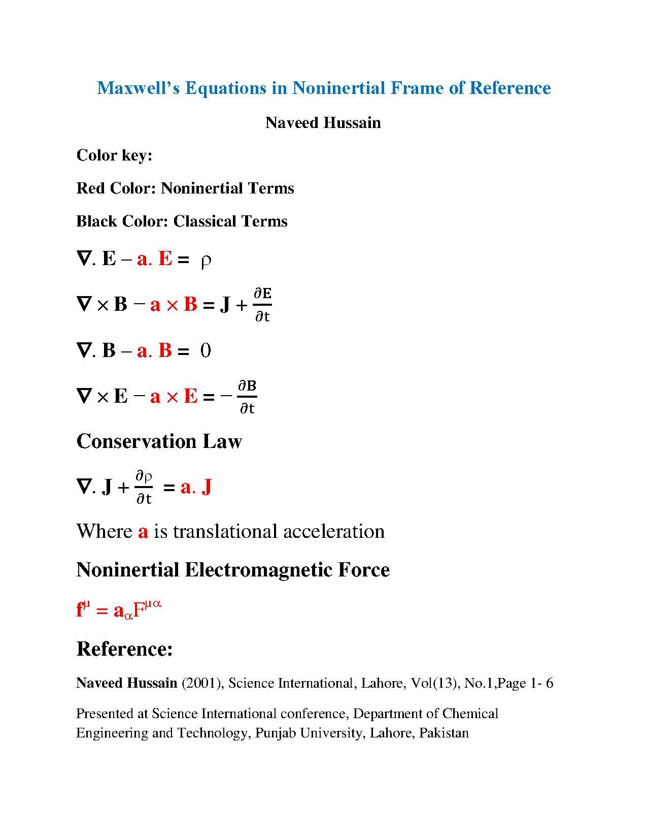File:Maxwell`s Equtions in NonInertial Frame By Rao Naveed Hussain ...