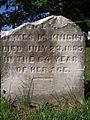 McKnight (Mrs. James, name missing), St. Clair Cemetery, 2015-10-06, 01.jpg