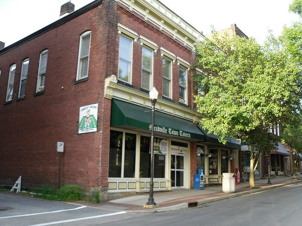 The population density of Meadville in Pennsylvania is 1217.09 people per square kilometer (3150.12 / sq mi)