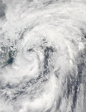 Timeline of the 2011 Pacific typhoon season - Tropical Storm Meari with its rainbands from the ITCZ