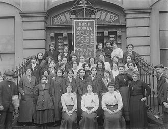 Rosie Hackett - Members of the Irish Women Workers Union on the steps of Liberty Hall (5865483241)