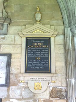 Memorial to the Old Contemptibles, Westminster Abbey