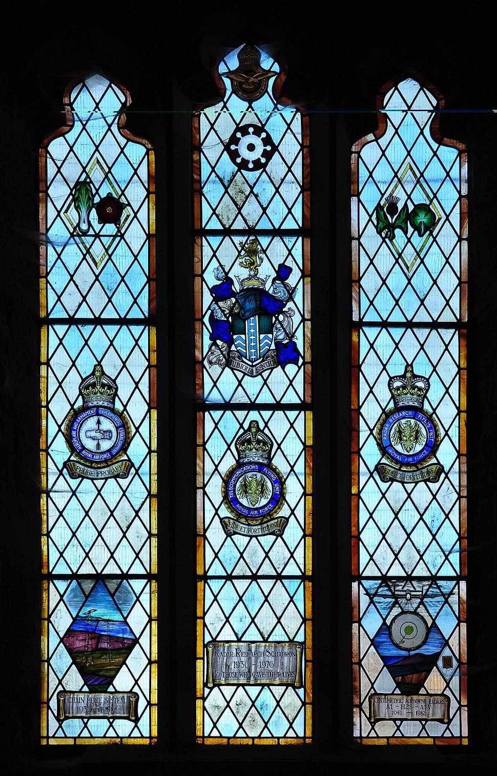 Memorial window in Goodrich Castle