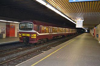 Merode station - Line 26 service en route for Halle