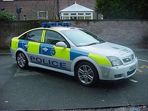 English: A Merseyside Police patrol car.