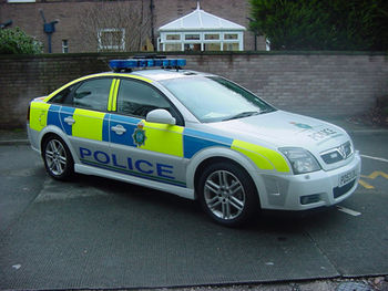 English: A Merseyside Police patrol car.