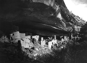 The Cliff Palace on Mesa Verde in Colorado.