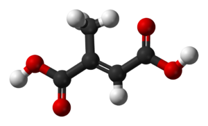 Mesaconic acid - Image: Mesaconic acid 3D balls