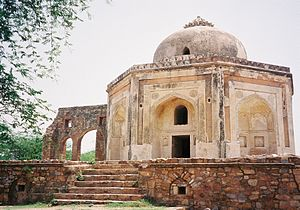 Metcalfe House - Dilkhusha or Metcalfe House in Qutb Archaeological Village, in ruins as on date