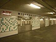 De milleniumwand in metrostation Eendrachtsplein