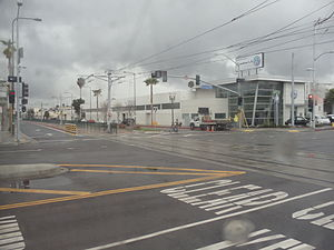 Blue Line (Los Angeles Metro) - This is where the Metro Blue and Expo Lines separate into their own routes.