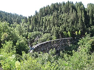 El Paso and Northeastern Railway - The Mexican Canyon Trestle near Cloudcroft