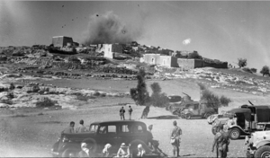 Mi'ar - Palestinian village of Mi'ar being blown up by the British in 1938.