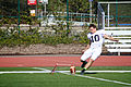 Michael Geiger, a kicker for the East Coast Team for the Semper Fidelis All-American Bowl, practices kicking field goals during the first day of practice aboard Fullerton College in Fullerton, Calif 121231-M-EK802-290.jpg