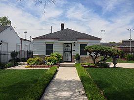 La casa natale di Michael Jackson all'indirizzo 2300 Jackson Street di Bowmont Drive a Gary, nell'Indiana.
