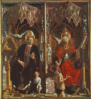 Altarpiece of the Church Fathers: St Augustine...