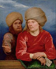 Double portrait d'hommes en turban