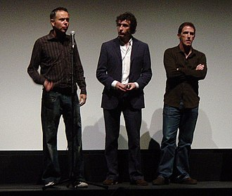 Steve Coogan - Michael Winterbottom, Coogan and Rob Brydon at the Ryerson Theatre in Toronto for the screening of Tristram Shandy (14 September 2005)