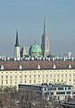 Michaelerkirche, Michaelertor, Stephansdom, Vienna 02.jpg