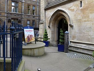 Michaelhouse, Cambridge - The entrance to Michaelhouse and the café