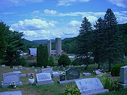 Farm and cemetery in Middlebury Township