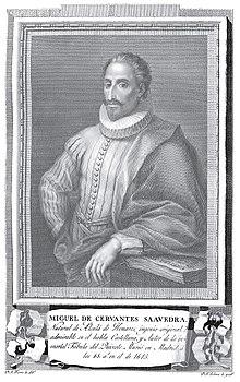 Miguel de Cervantes Saavedra (Retratos de Españoles Ilustres, 1791) (Quelle: Wikimedia)