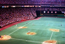 Photograph of Veterans Stadium the Phillies' home from 1971 to 2003