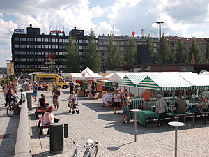 Mikkeli - Mikkeli town centre, the market square in August 2013