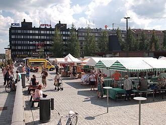 Mikkeli - Mikkeli town centre, the market square in August 2013
