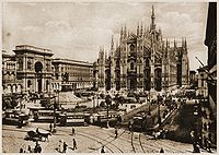 View of Milan in early 1900s.