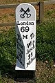 Milepost at Pickle Fen - geograph.org.uk - 443858.jpg