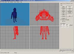Screenshot di Milkshape 3D 1.7.9