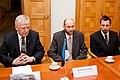 Ministru prezidents Valdis Dombrovskis tiekas ar Igaunijas lauksaimniecības ministru Heliru Valdoru Sederu (6430245365).jpg