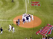 A Minnesota Twins win, Hubert H. Humphrey Metrodome
