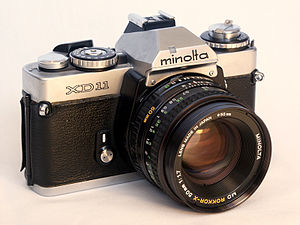 Minolta XD-11 SLR camera