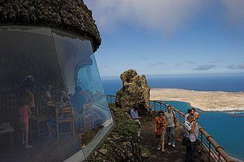 English: Mirador Del Rio on Lanzarote. La Grac...