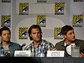 Misha Collins, Jared Padalecki & Jensen Ackles (4852411478).jpg