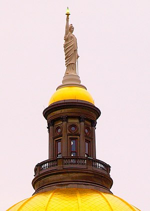 Miss Freedom - The statue atop the Georgia State Capitol building.