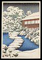 Mitsubishi Fukagawa bettei no zu, Chihan kyakushitsu no yuki by Kawase Hasui.jpg