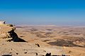 Mitzpe Ramon Mitzpe Ramon Crater with black rocks (15453728405).jpg
