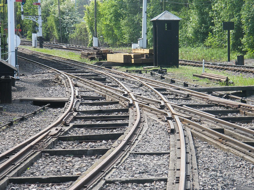 Mixed gauge track Didcot
