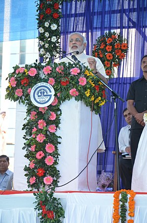 Narendra Modi - Modi addressing graduates of the Gujarat National Law University in 2012.
