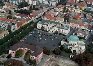 Mohács - Aerial view