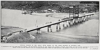 New Zealand State Highway 3 - Mokau Bridge opened 1927