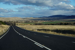 Monaro Highway - Monaro Highway near Cooma