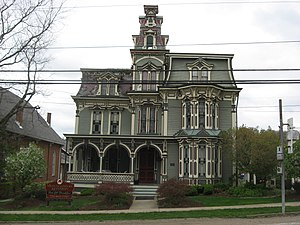 Claysville, Pennsylvania - The Montgomery House, a historic building on the borough's western edge